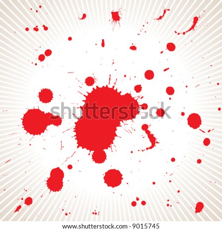 vector file of red color blood splash effects