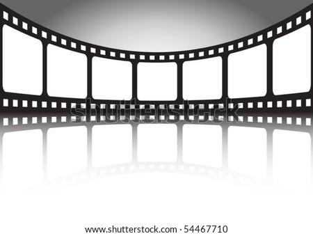 Vector film  banner illustration - stock vector
