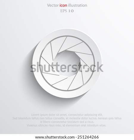 Vector film camera web icon. Eps 10. - stock vector
