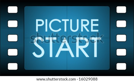 Vector film countdown. Picture Start. - stock vector