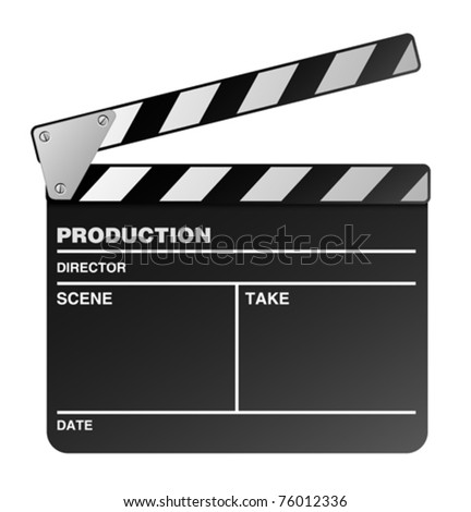 Vector film maker clapper board - stock vector