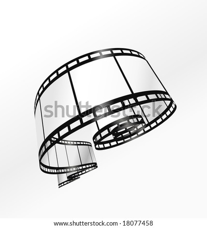 vector film strip - stock vector