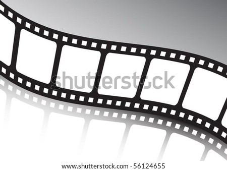 Vector film  strip twisted background illustration - stock vector