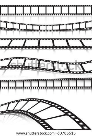 Vector film strip   various background collection - stock vector