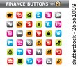 Vector. Finance buttons, web elements. - stock photo