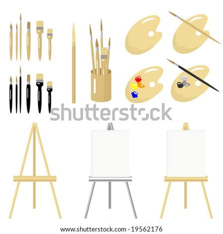 Vector Fine Art Tools  is original artwork. - stock vector