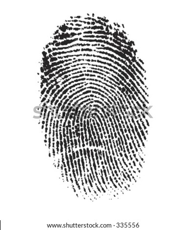 Vector Finger Print - Very detailed - stock vector