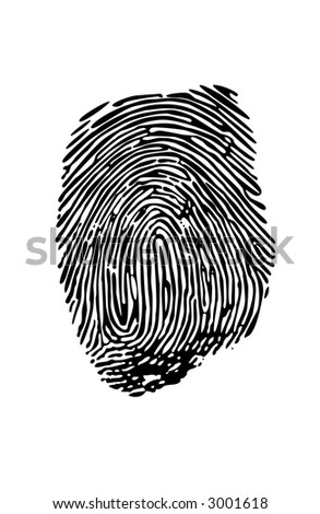 Vector fingerprint made from a photograph - stock vector
