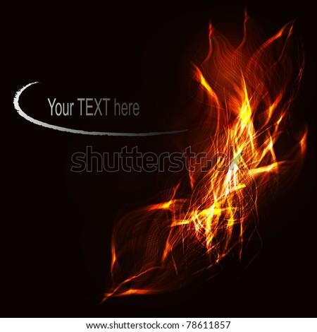 Vector fire flaming design - stock vector
