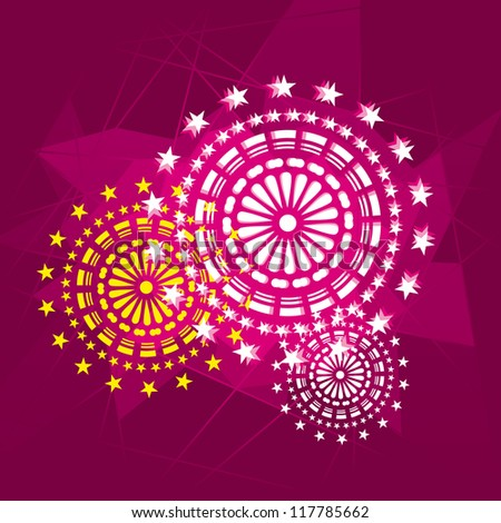 Appealing vector fireworks pics