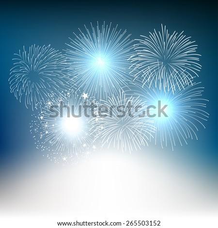 vector fireworks background - stock vector