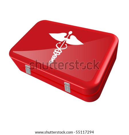 Vector First Aid Kit - stock vector
