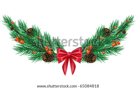 Vector firtree twig - stock vector