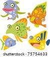 vector fish set - stock vector