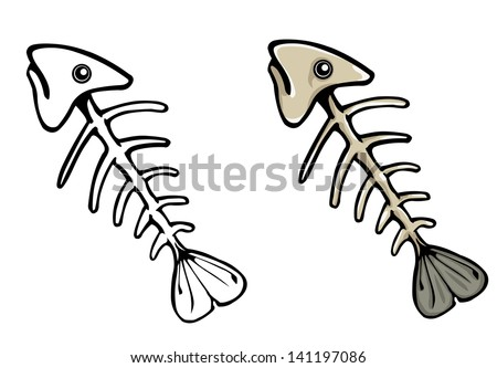 fish bones stock images  royalty
