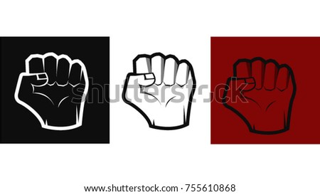 Vector Fist Symbol Power Logo Gym Stock Photo Photo Vector