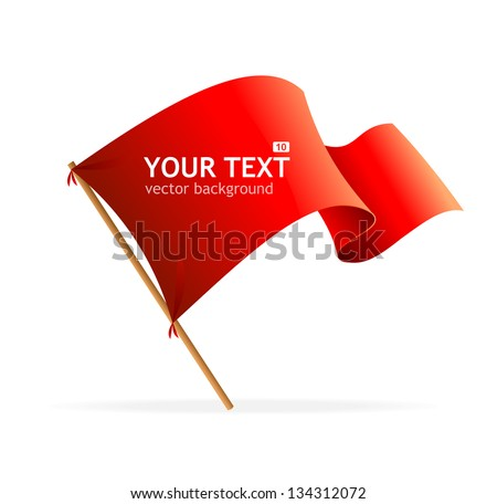Vector flag banner for text. - stock vector