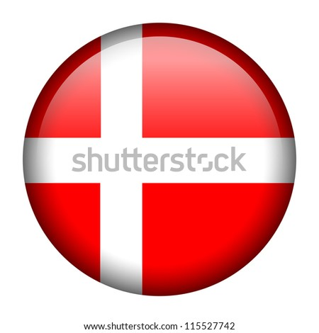 Vector flag button series - Denmark - stock vector