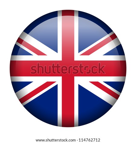 Vector flag button series of all sovereign countries - United Kingdom - stock vector