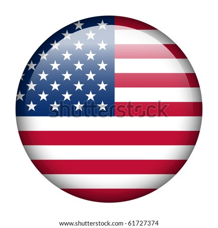 Vector flag button series - United States - stock vector