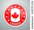 Vector flag label series - Canada - stock vector