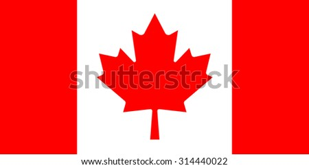 Vector flag of Canada - stock vector