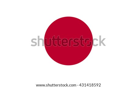 Vector flag of Japan