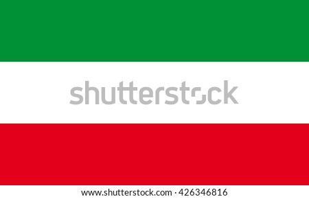 Vector flag of North Rhine-Westphalia - stock vector