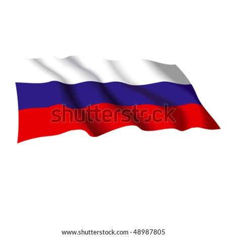 Vector flag of Russia. Can be used for design as a background, icon or texture. - stock vector