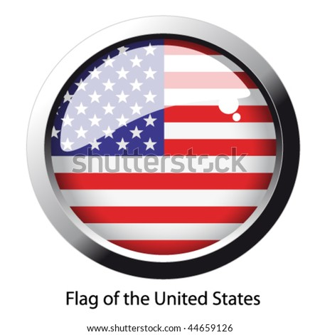 Vector flag of the United States - stock vector