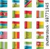 Vector flags. Africa, part 10 - stock vector