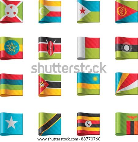Vector flags. Africa, part 9 - stock vector