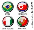 vector flags (group G) - south africa - stock photo