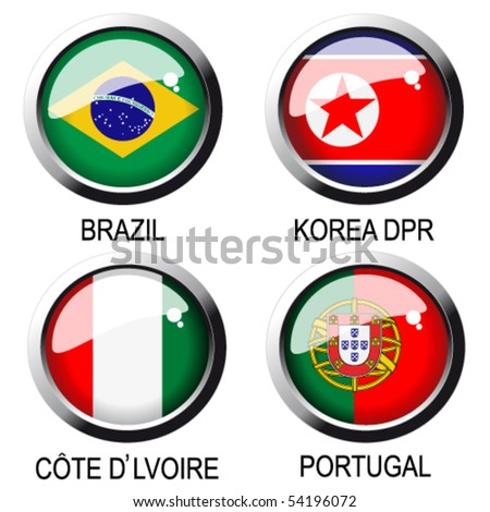 vector flags (group G) - south africa - stock vector