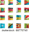 Vector flags icon set. Africa, part 9 - stock photo