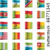 Vector flags icon set. Africa, part 10 - stock photo