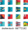 Vector flags icon set. Oceania, part 11 - stock photo