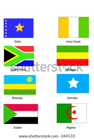 Vector flags of Africa