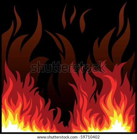 vector flame - stock vector
