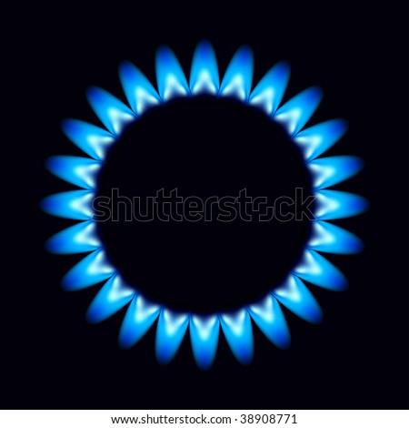 vector flames of gas - stock vector