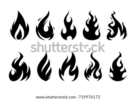 vector flames set different fire shapes stock vector 719976172 rh shutterstock com vector frames and borders vector frames free download