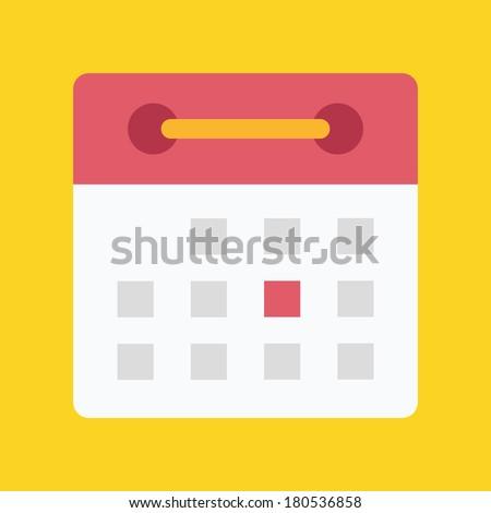 Vector Flat Calendar Icon Stock Vector 180536858 - Shutterstock