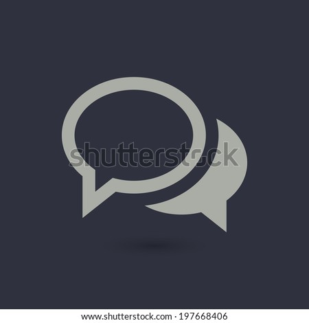 Vector flat chat icon. Speech bubbles - stock vector