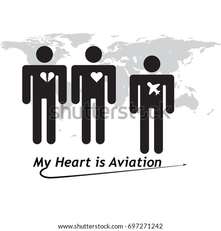 Vector flat concept aviation service design stock vector 697271242 vector flat concept aviation service design and world map background gumiabroncs Choice Image