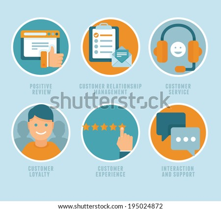 Vector Flat Customer Experience Concepts Icons Stock Photo (Photo ...