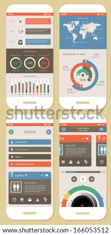Vector Flat Elements of Infographics   - stock vector