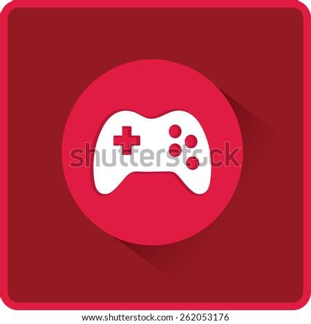 Vector flat Gaming Joystick Icon - stock vector