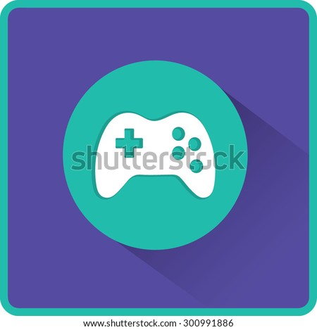Vector flat Gaming Joystick Icon - stock vector