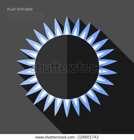 Vector flat gas burner retro icon. Eps10 - stock vector