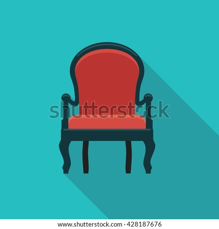 Vector flat icon antique chairs. Stylized illustration - stock vector